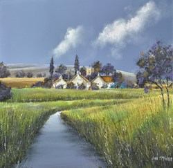 Meadow View by John Mckinstry - Original Painting on Box Canvas sized 20x20 inches. Available from Whitewall Galleries